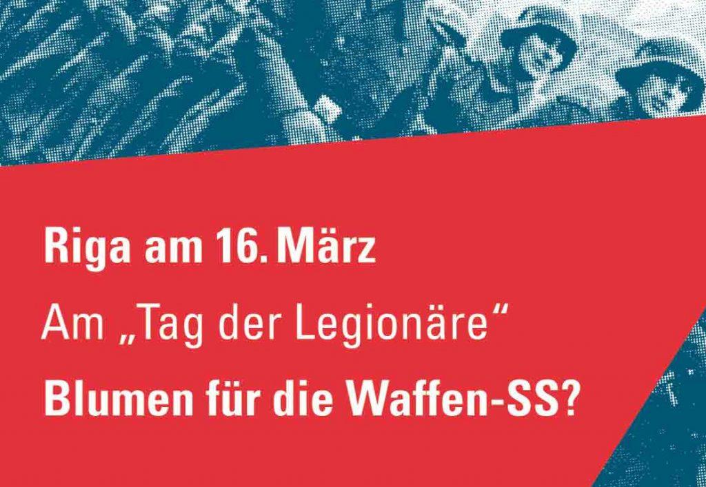 Riga am 16.März - am Tag der Legionäre Blumen für die Waffen-SS? (Berliner VVN-BdA)