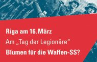 Am 15.3. in Berlin, Bremen, Hamburg, Frankfurt: Protest gegen Aufmarsch der Waffen-SS-Veteranen in Riga