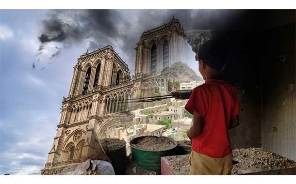 Dutzende von Notre-Dames sind auch mit militärischer Unterstützung Frankreichs in Schutt und Asche gelegt worden - Albrecht Müller & Wolf Wetzel