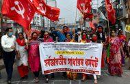 Größter Generalstreik Indien: Rund 250 Millionen Menschen beim eintägigen Ausstand gegen arbeiter- und bauernfeindliche Gesetzesinitiativen der regierenden Hindu-Nationalisten -  Florian Wilde