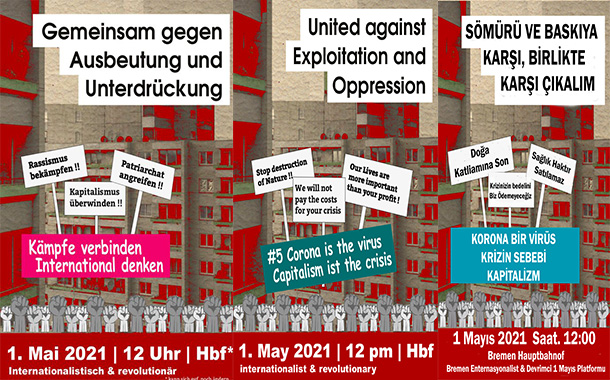 Internationalistische und Revolutionäre 1. Mai Demo in Bremen 2021